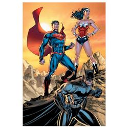 "DC Comics, ""DC Universe Rebirth"" Numbered Limited Edition Giclee on Canvas by Jim Lee with COA."