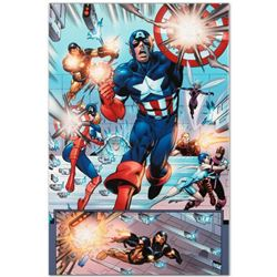 "Marvel Comics ""Last Hero Standing #1"" Numbered Limited Edition Giclee on Canvas by Patrick Olliffe w"