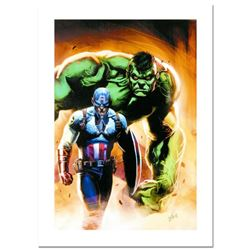 """Stan Lee Signed, """"Ultimate Origins #5"""" Numbered Marvel Comics Limited Edition Canvas by Gabriele Del"""