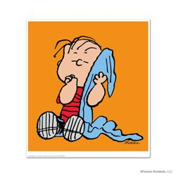 """Peanuts, """"Linus: Orange"""" Hand Numbered Limited Edition Fine Art Print with Certificate of Authentici"""