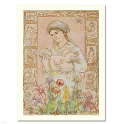 """""""Raquela"""" Limited Edition Lithograph by Edna Hibel, Numbered and Hand Signed with Certificate of Aut"""