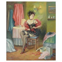 "Taras Sidan- Original Oil on Canvas ""Rebecca"""