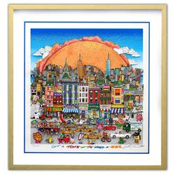 """Charles Fazzino- 3D Construction Silkscreen Serigraph """"Get A Taste of the World in N.Y.C"""""""