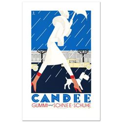 """RE Society, """"Candee"""" Hand Pulled Lithograph, Image Originally by Eduardo Garcia Benito. Includes Let"""