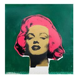 """Steve Kaufman (1960-2010), """"Marilyn Monroe"""" Hand Signed and Numbered Limited Edition Hand Pulled sil"""