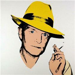 """Andy Warhol- Screenprint in colors """"Truman Capote, 1984, Yellow"""""""