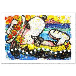 """""""Chillin"""" Limited Edition Hand Pulled Original Lithograph (38.5"""" x 26"""") by Renowned Charles Schulz P"""