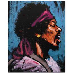 """Jimi Hendrix (Bandana)"" Limited Edition Giclee on Canvas (28"" x 35"") by David Garibaldi, Numbered a"
