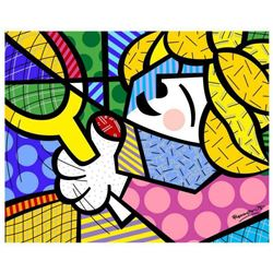 """Romero Britto """"Tennis Pro"""" Hand Signed Giclee on Canvas; Authenticated"""