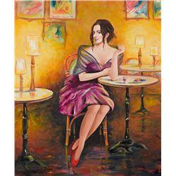 "Taras Sidan- Original Giclee on Canvas ""Smile"""