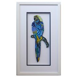 "Patricia Govezensky- Original Painting on Laser Cut Steel ""Moment of Peace XI"""