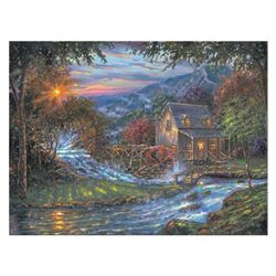 "Robert Finale, ""Change Of Seasons"" Hand Signed, Artist Embellished Limited Edition on Canvas with CO"