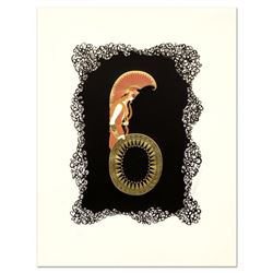"Erte (1892-1990), ""Numeral 6"" Limited Edition Serigraph, Numbered and Hand Signed with Certificate o"