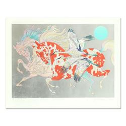 "Guillaume Azoulay, ""It Takes Two"" Limited Edition Serigraph with Hand Laid Silver Leaf, Numbered and"