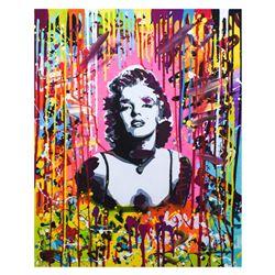 "Nastya Rovenskaya- Mixed Media ""Pink Marilyn"""