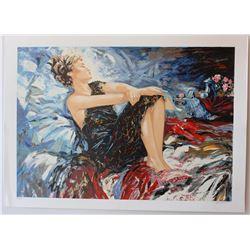 "Sergey Ignatenko- Original Serigraph on Paper ""Sleeping Beauty"""