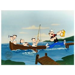 "Myron Waldman (1908-2006). ""Gone Fishing"" Limited Edition Hand Inked and Painted Animation Cel, Numb"