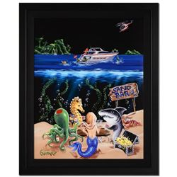 """Michael Godard, """"Sand Bar I"""" Framed Limited Edition on Canvas, Numbered and Signed with Letter of Au"""