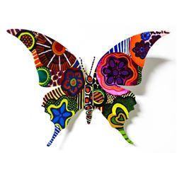 "Patricia Govezensky- Original Painting on Cutout Steel ""Butterfly CCLXXXIII"""