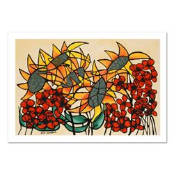 """Avi Ben-Simhon, """"Sunflowers"""" Limited Edition Serigraph, Numbered and Hand Signed with Certificate of"""