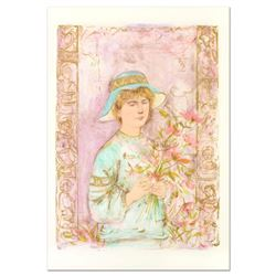"""Edna Hibel (1917-2014), """"Flora"""" Limited Edition Lithograph, Numbered and Hand Signed with Certificat"""