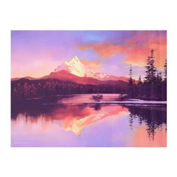 """H. Leung, """"Mt. Washington Sunset"""" Limited Edition on Canvas, Numbered and Hand Signed with Letter of"""