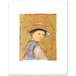 """""""Joel"""" Limited Edition Lithograph by Edna Hibel (1917-2014), Numbered and Hand Signed with Certifica"""