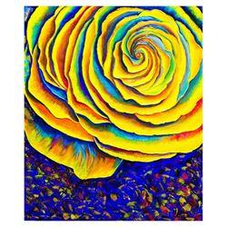 "Svyatoslav Shyrochuk- Original Oil on Canvas ""Yellow Flowers"""