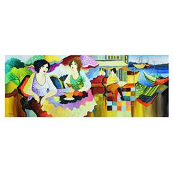 "Patricia Govezensky- Original Watercolor ""Back In Town"""