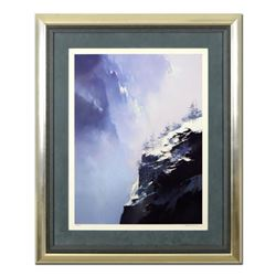 "Thomas Leung, ""Song of Winter Mountain"" Framed Limited Edition, Numbered 112/400 and Hand Signed wit"