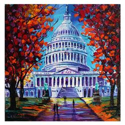 "Yana Rafael, ""The Capital"" Hand Signed Original Painting on Canvas with COA."