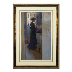 "Dan Gerhartz, ""Cobalt"" Framed"" Limited Edition, Numbered 40/100 and Hand Signed with Letter of Authe"