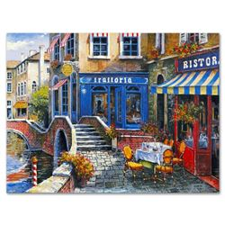 "Anatoly Metlan, ""Outdoor Cafe"" Limited Edition Lithograph, Numbered and Hand Signed with Certificate"
