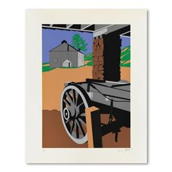 "Armond Fields (1930-2008), ""Wagon Wheel"" Limited Edition Hand Pulled Original Serigraph, Numbered an"