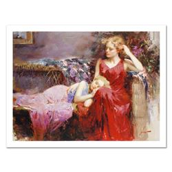 "Pino (1931-2010), ""A Mother's Love"" Limited Edition on Canvas, Numbered and Hand Signed with Certifi"