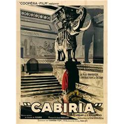 French mute movie poster - CABIRIA
