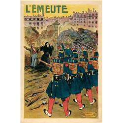French mute movie poster - L'EMEUTE