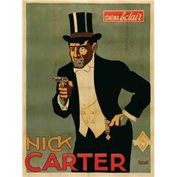 French mute movie poster - NICK CARTER