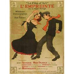 French mute movie poster - L'EMPREINTE