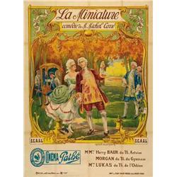 French mute movie poster - LA MINIATURE