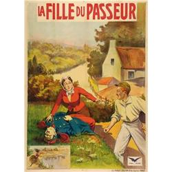 French mute movie poster - PASSEUR