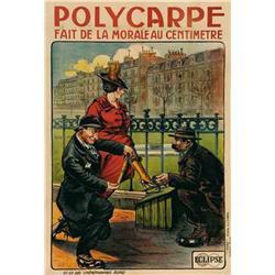French mute movie poster - POLYCARPE