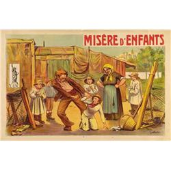 French mute movie poster - MISERE