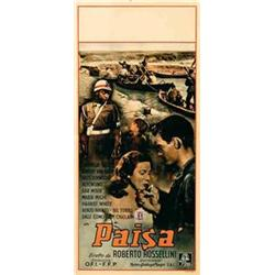 Italian movie poster - PAISA'