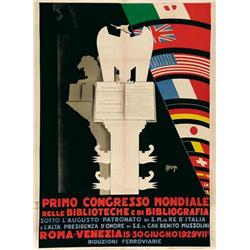 Italian advertising poster, exhibitions