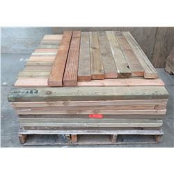 "Pallet Multiple Wood Planks 42"" L x 3-1/2""W  x 1/2"""