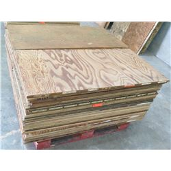 Pallet Multiple Plywood Sheets 48 L x 24  W x Mix (3/4  & 1/2 )