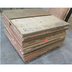 Pallet Multiple Plywood Sheets 48 L x 24  W x Mix (1/2  & 5/8 )