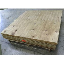 "Pallet Multiple Plywood Sheets 48""L x 24"" W x Mix (3/8"", 1/2"" & 5/8"")"