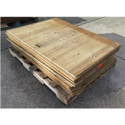 Pallet Multiple Plywood Sheets 48 L x 36  W x 1/2